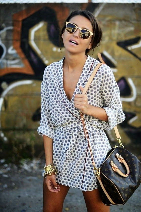 Lovely Pepa Mini Summer Wrap Dress with Shades: Wrap Dresses, Rayban, Women Fashion, Ray Bans, Louis Vuitton, Summer Style, St. Louis