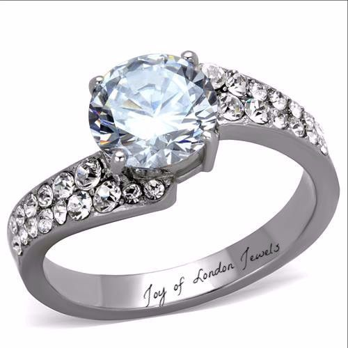 2.2CT Perfect Solitaire Cut Russian Lab Diamond Promise Engagement Ann – Joy Of London Jewels