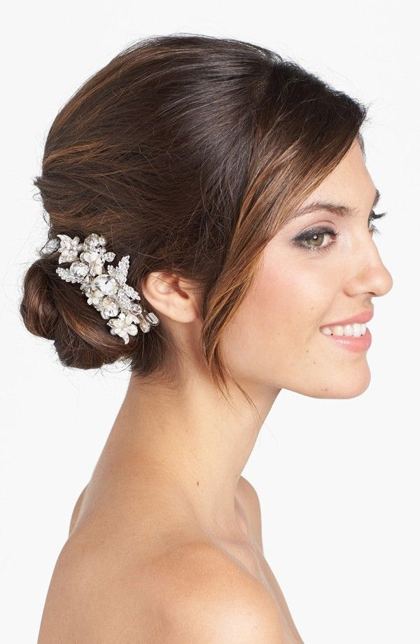 19 Gorgeous Hairstyles For Your #Wedding Day. To see more: http://www.modwedding.com/2013/12/26/19-gorgeous-wedding-hairstyles/: Crystals, Freshwater Pearl, Wedding Ideas, New York, Hair, York Luella