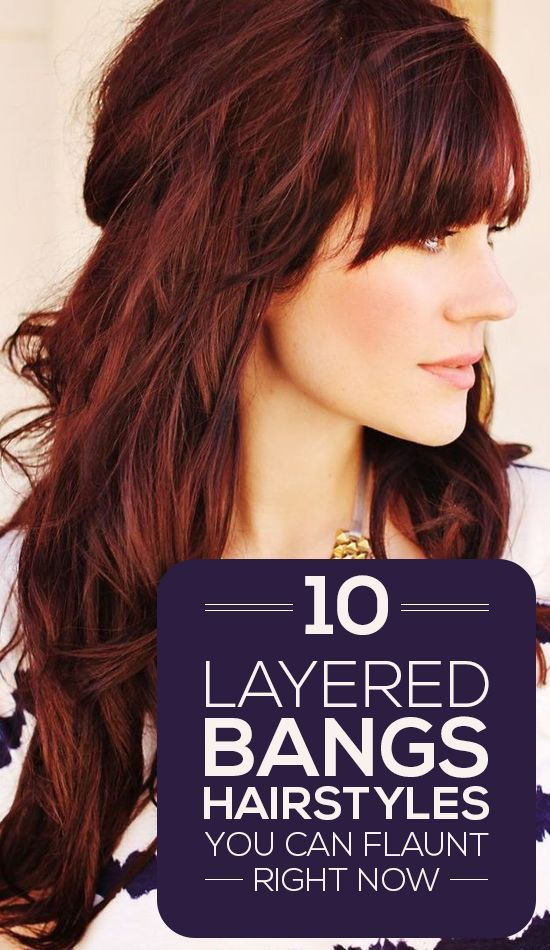 Here are 10 layered bangs hairstyles that will lend you the oomph factor that your look needs for sure! These top picks will definitely inspire you ...: 10 Layered, Hair Style, Haircut, Layered Bangs Hairstyles, Bang Hairstyles, Hair Color, Oomph Factor
