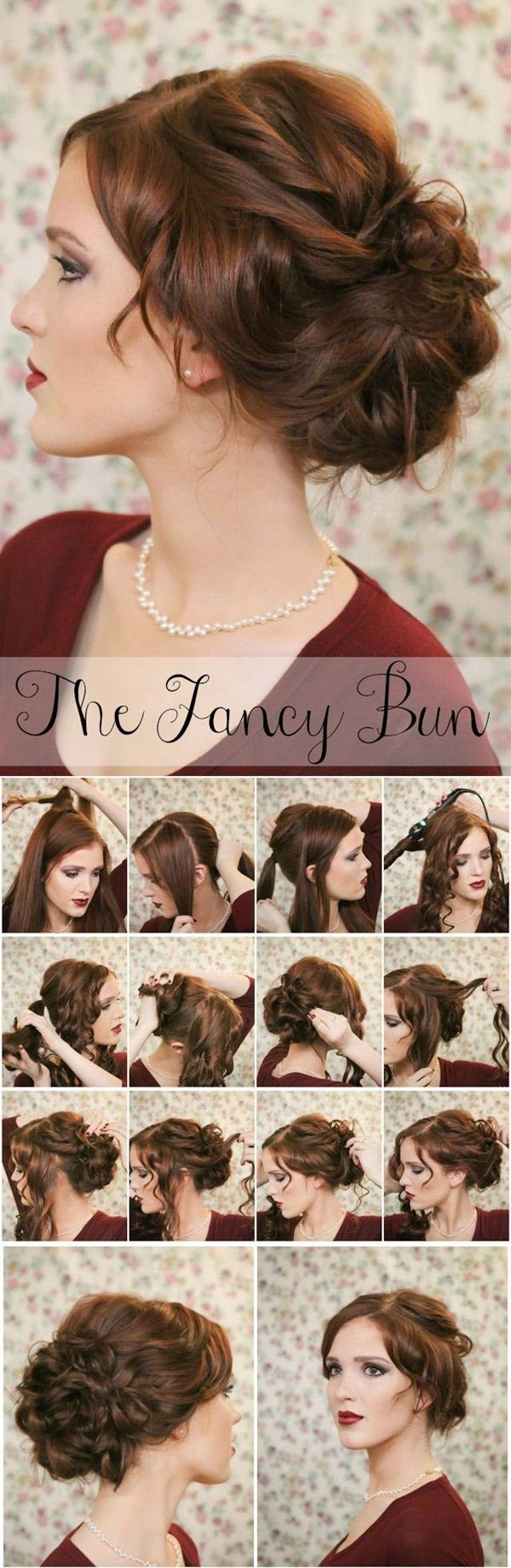 So Sexy and Easy Bun Hairstyle Tutorials For you (3): Hairstyles, Wedding Hair, Fancy Bun, Hair Styles, Updo