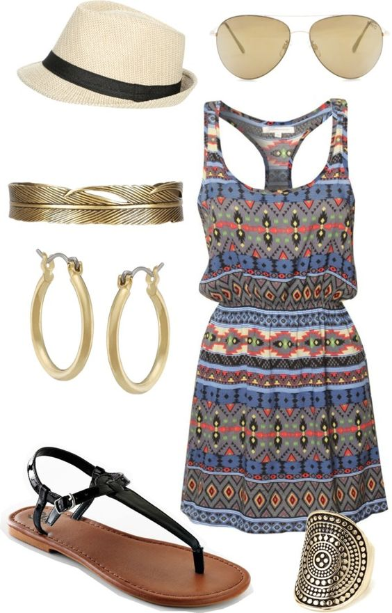 """""""Roatan beach outfit"""" by chap6020 liked on Polyvore: Summeroutfit, Summer Dress, Beach Outfit, Summer Outfit, Outfit Idea, Summer Style, Festival Outfit"""