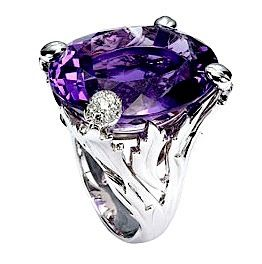 "Dior ""Miss Dior"" with white gold, diamonds and amethyst."