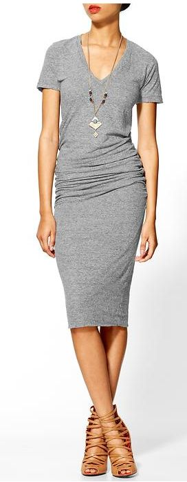OMG, LOVE.  This is a jewelry site, but WHERE CAN I GET THAT DRESS???: Tee Shirt Dress, Cute Dresses, Casual Grey Dress, T Shirt Dresses, Grey Dress Outfit, Grey Dresses, Casual Midi Dress, Gray Dress Outfit