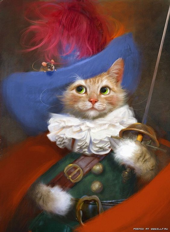 puss in boots (artist unknown): Cat Art, Kitty Cat, Art Cats, Funny Cat, Cats Art, Cat Illustration, Fairytale