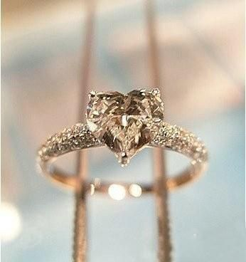 Champagne Diamond. Wow Minus the heart shape...not my style!