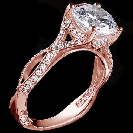 Tacori rose gold engagement ring. Oh my goodness!!!! This is my ring!!! It's everything I want and more!!! I have to have it.....dreaming of that day!!