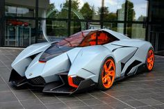 ‎2013 Lamborghini‬ Egoista - Has a Unique One Seat Cockpit Similar to a Modern Day Jet Fighter and has a Canopy Door that is Completely Removable. The Steering Wheel Must be Removed to Enter or Exit the Vehicle and is Powered by a 317 cu, 600 hp V10. Unve