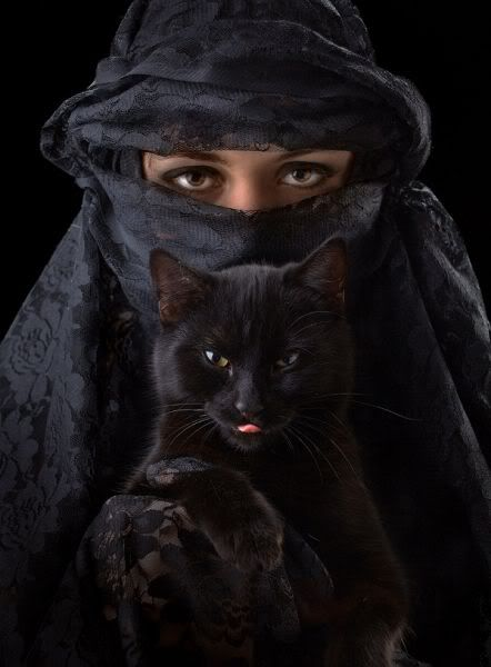 BLACK - Black Cat. Bastet (or Bast) is a feline goddess of ancient Egyptian religion. Bastet began as a Lioness Goddess, and Gradually became a Cat Goddess. One myth relates that a lioness, fiery and wrathful, was once cooled down by the water of the lake