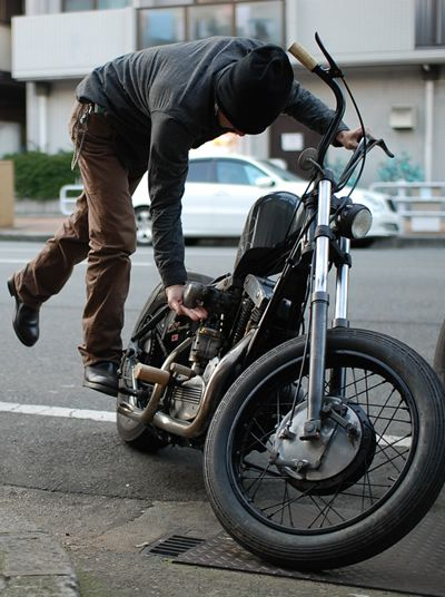 They don't even have motorcycles and this reminds me of him. Hmmm...: Old School Motorcycles, Motorbike Rider, Cars Motorcycles, Custom Motorcycles, Cars Bikes, Motorbikes Gallery, Bike Motorcycles, Biker Chopper