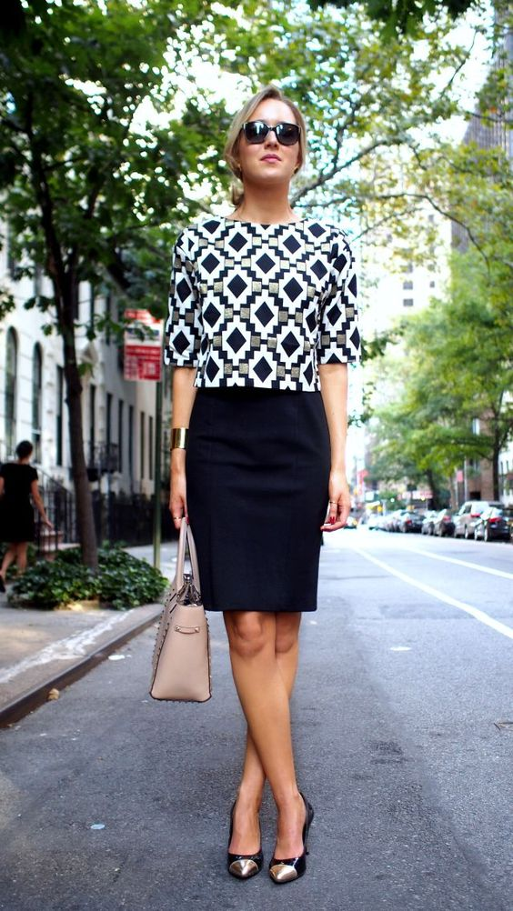 the classy cubicle fashion blog for young professional women females woman girls 20s 30s 40s appropriate work wear office attire outfits professional corporate suit dos and donts crimes top ten day to night transition interview: Classy Cubicle, Crop Tops,