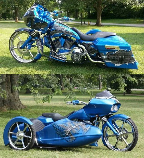 Custom Harley Davidson Road Glide w/ side car: Custom Harley, Cars Motorcycles, Custom Baggers, Bikes Baggers, Sidecar, Motorcycles Scooters, Biker Customs, Baggers Cycles Trikes Bikes, Bagger S