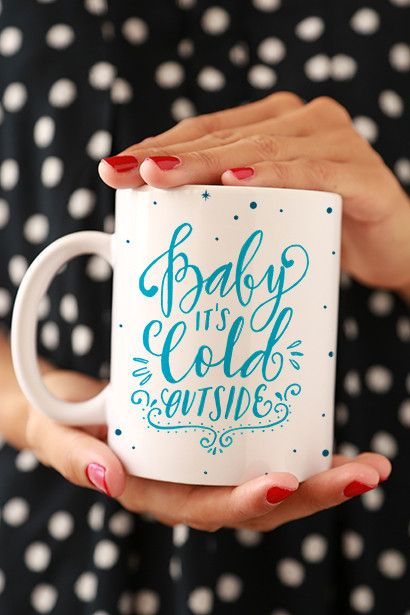 Baby It's Cold Outside Mug - Maybe Grandmas - Aunt - cousin can have hot coco mugs personalized