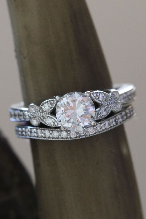 Butterfly perfect engagement ring | 3 Crave Worthy Pave Diamond Engagement Rings  http://storyboardwedding.com/pave-diamond-engagement-ringsutm_sourceblogpost-storyboardweddings/
