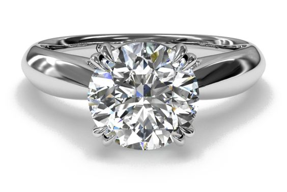 Tulip Airline Solitaire Engagement Ring