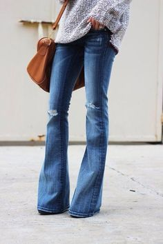 We are loving flare jeans for fall.