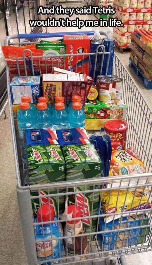 Tetris skills… lol I totally do this lol, u should see the way I struggle when my husband is at the store with me & he starts grabbing everything out of the cart & putting it on the conveyor belt in no kind of order. Yes I know I should probably b