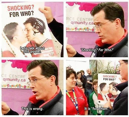 When Stephen Colbert couldn't stand a grammatical mixup. | The 32 Nerdiest Jokes Of 2013: Colbert Grammar, Stephen Colbert, Grammar Nazi, Funny Pictures, Funny Stuff, Funnies, Humor, Things