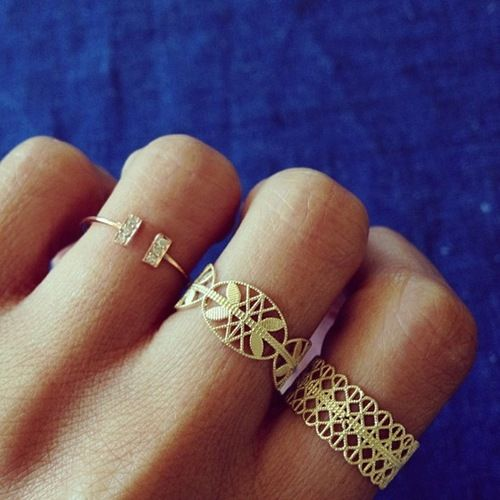 Grace Lee Designs: Boho Rings, Jewelry Design, Beautiful Rings, Middle Finger, Boho Fab, Filigree Ring, Lace Ring
