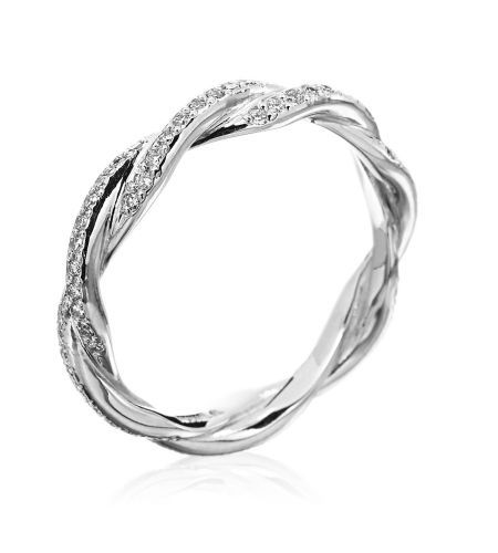 Infinity band - would go beautifully with a solitaire engagement ring or by itself as an anniversary gift :)