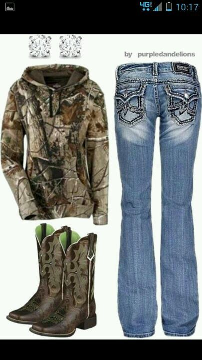 Omg.. The boots! I don't generally wear camo but I still like the hoodie & jeans too... but the boots!!!