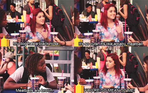 """You're So Mean To Me!"" - Victorious: Cats, Cat Valentine Victorious, Victorious Quotes Nick, Sam And Cat Quotes, Funny Tv, Tv Episodes, Icarly Quotes, Cat Valentine ? ?"