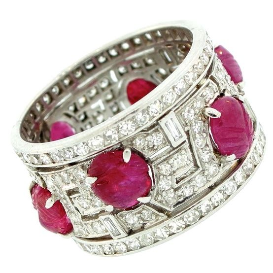 Ruby Diamond Band.....Gorge!!!!! This matches my ruby & diamond cocktail ring.