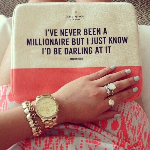 Hahhahaha!! I think we all can find this a little funny! We all know what we'd do with more: Fashion, Kate Spade Bag, Style, Quotes, Purse, Truth, Accessories, Kate Spade Ipad Case, Katespade
