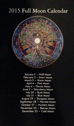 2015 Full Moon Calendar tree of life Mandala by SoulArteEclectica  $8.50 the pink moons on my bday!!!: 2015 Full, Moon Calendar, 2015 Moon, Moon Magic, Moon Calender, Full Moons, Moon 2015, Tree Of Life, Witchy Stuff
