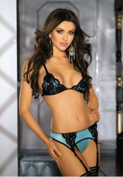 $22.50 (click twice for updated pricing and more info) Blue and Black Lace Bra Top Set - #bras #LaceBra MissLoveGirls.com: Cup, Black Lace, Bra Top, Satin, Beautiful, Sexy Lingerie, Beauty, Women