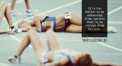 """It is far better to be exhausted from success than to be rested from failure."": Failure, Exhausted, Fitness, Truth, So True, Running Quotes, Success, Motivation Quote, Workout"