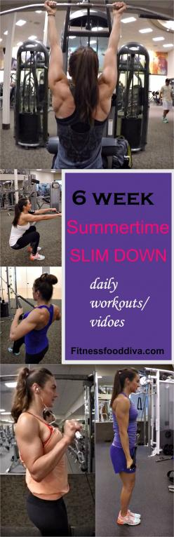 6 Week Summertime Slim Down  Program with all the workouts and videos!: Workout Program, Weight Workout, Week Workout Plan, 15 Week Workout, Weight Loss Workout Plan, 2 Week Workout, 6 Week Workout, 6 Week Summertime Slim Down, 2 Week Slim Down