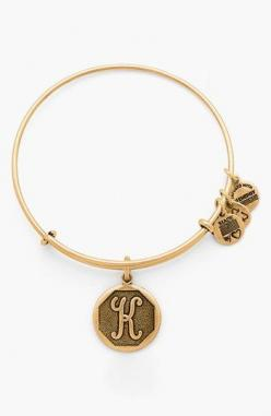 """Alex and Ani 'Initial' Adjustable Wire Bangle available at #Nordstrom I would like a """"c"""" bracelet and a """"k"""" bracelet.: Initials, Alex And Ani, Bangles, Adjustable Wire, Ani Initial, Alex O'Loughlin"""