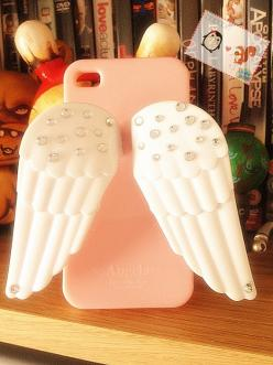 Awesome I PHONE CASE - I don't want it though because it would be hard to put in back pocket and u would have to lay it down on the screen: Cute Iphone Case, Iphone Cases, Angel Wings, Phonecases, Awesome Iphone, Cute Phone Case, I Phone Cases