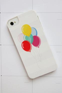 Balloon Phone Case! If it just had a white background I'd be in love: Diy Iphone Case, Diy Cases Iphone, Balloon Phone, Iphone Cover, Cases Iphone Diy, Balloon Iphone, Iphones Ipad, Couple Iphone Cases