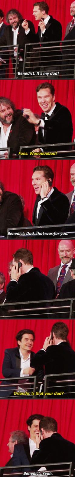 Benedict Cumberbatch and his dad   --- I love this.  ----Haha bet Timothy Carlton loved that. I love the shots of Martin talking to Ben's dad on the phone and Ben smiling :D: Funny Pics, Funny Pictures, Funnypictures, Funny Images, Funny Quotes, Funny