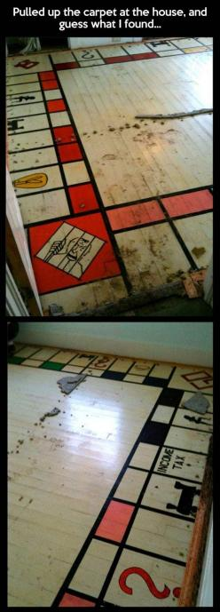 Big surprise under the carpet: Idea, Funny Pictures, Monopoly Board, Big Surprise, Funny Photos, Carpet, Be Awesome
