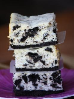 bringing this to our young adults church party this sat.: Tasty Recipe, Sweet, Oreo Cheesecake, Cheesecake Bars, Baking Cookies, Cookies And Cream, Food, Cream Cheesecake, Dessert