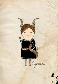 Capricorn print, girl astrology illustration, zodiac wall art: Zodiac Sign Capricorn, Capricorn Tattoo, Capricorn And Love, Astrology Capricorn, Capricorn Sign Tattoo, Capricorn And Capricorn Love, Astrological Signs Capricorn, Astrology Signs Capricorn,