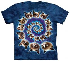 Cat Grumpy Swirl – Tees Are Me: Spirals, Cat Spiral, T Shirts, Grumpy Spiral, Grumpy Cat, Mountain Grumpy, Graphic Tee