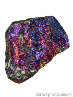 Chalcopyrite (Crown Chakra) : This mineral increases your perceptive abilities. It assists you in pulling ethereal energy to you to bring information to you and others.    Peacock ore can be used to break up energy blockages and can open up and cleanse th