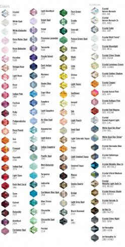 CRYSTAL colors and names.  #Beading #Jewelry #Tutorials: Bead Color, Beading Jewelry, Jewelry Making, Color Palette