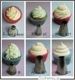 Cupcake frosting decor guide. Sorry not in English but good photos: Baking Tips, Sweet, Cupcakes, Cupcake Soap, Decor Guide, Frosting Decor, Frosting Tips, Cupcake Frosting, Cake Decorating