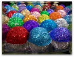Edible Glitter! Sprinkle on cupcakes, cookies, cakes, pies, pastries, donuts...what you wish! Mix 1/4 cup sugar & 1/2 teaspoon of liquid food coloring, put in oven for 10 mins.: Birthday, Ideas, Glitter Cupcakes, Sweet, Edible Glitter, Food Coloring,