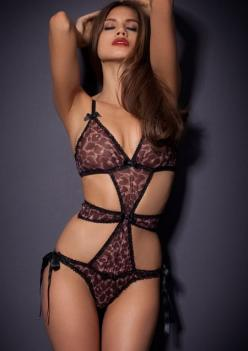 Esme Playsuit Agent Provocateur Made in the softest French silk chiffon, triangle soft cup bra, flattering waist panelling and a flirtatious tie side brief.: Intimate Lingerie, I I Lingerie, Leopard Ap, Sexy Lingerie, Black Lingerie, Sexylingerie, Colors