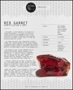 "Garnet, known as ""the Stone of Happiness,"" enhances your internal energies to bring forth an intense level of inner joy while increasing your presence. Garnet is also known to raise your healing power during illness.: Crystals Meanings, Crystals H"