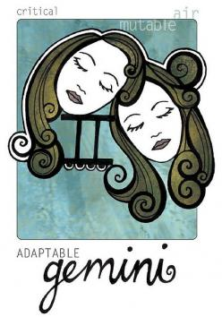 Gemini Deep Inside:  One downfall of Gemini is their superficiality. Instead of looking deep into a person's real qualities, Gemini will judge a person by the way they treat them.  They can have feeling of discouragement and moodiness although they ne