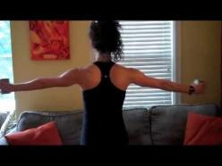How to shape up your arms and back for that strapless dress! Just about every bride I know tries to get into better shape before her wedding so she can look her best on her big day.  Unfortunately most of us don't have tons of time to hit the gym so i