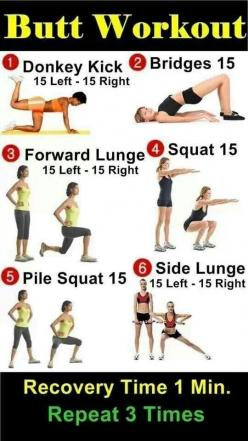 I like this! But will probably start with a higher number of reps. That's the beauty u can change it to fit your level: Butt Exercise, Lower Body, Fitness, Work Outs, Buttworkouts, Butt Workouts, Legs Butt, Health, Booty Workout