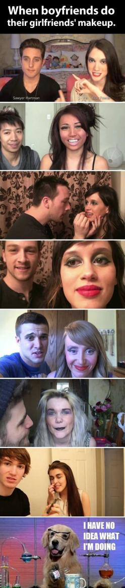 I need a boyfriend so i can look like a clown drag queen on his own accord.: Girlfriends Makeup, Giggle, Funny Pictures, Funny Stuff, Humor, Hilarious, Girlfriend S Makeup, Boyfriends